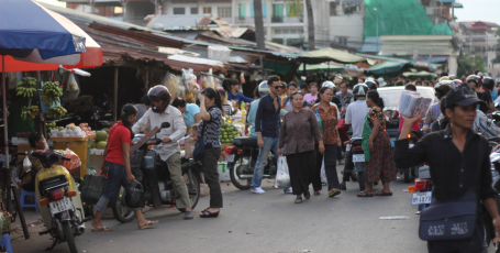 Marché russe Cambodge